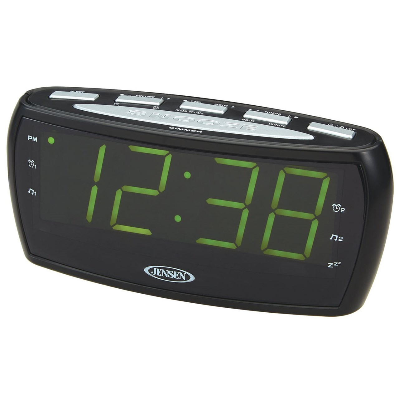 jensen am fm dual-alarm clock radio instructions