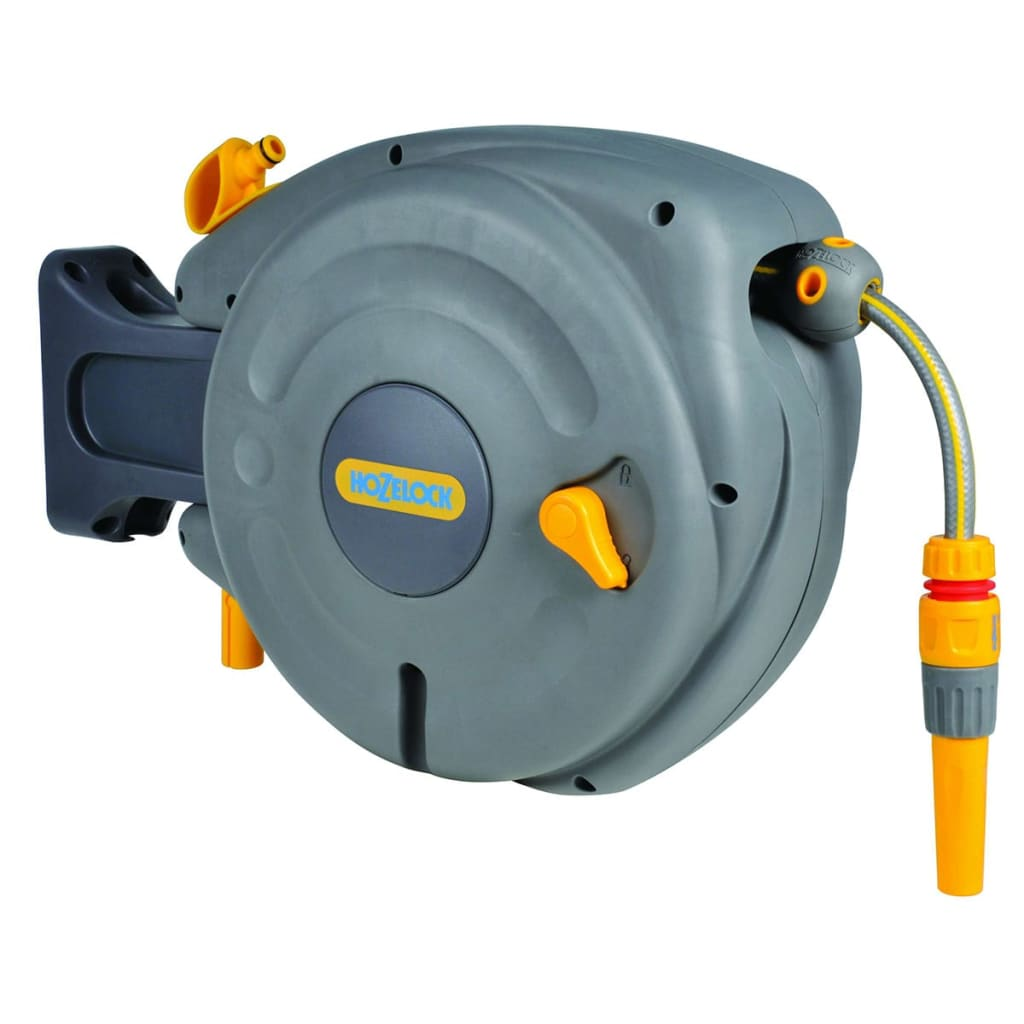 wall mounted manual garden hose reel