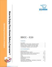 Zojirushi bread maker manual bbcc x20
