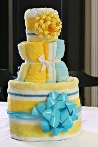 baby towel cake instructions