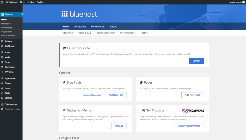 Bluehost how to create websites for clients