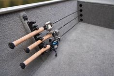Rod holder on a g3 guide boat