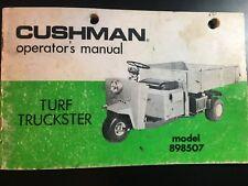 2002 cushman turf truckster parts manual
