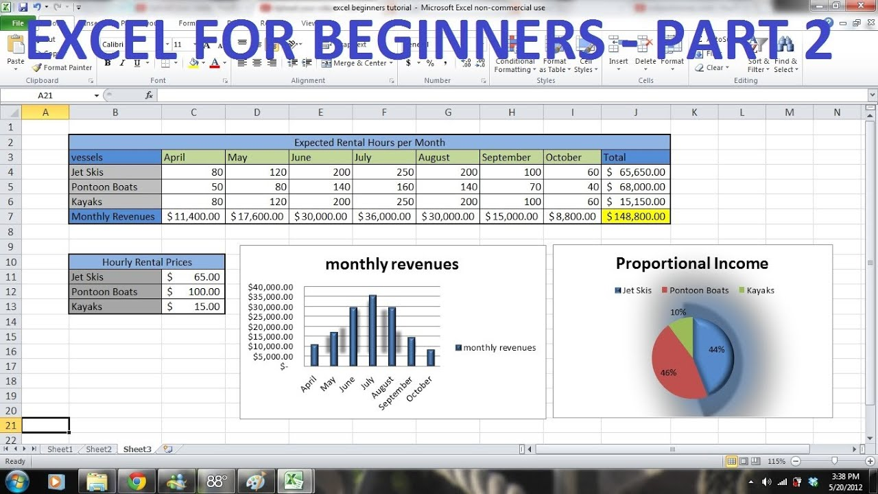 Excel exercises for beginners pdf