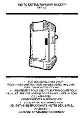 Nostalgia electrics popcorn maker instructions rkp630