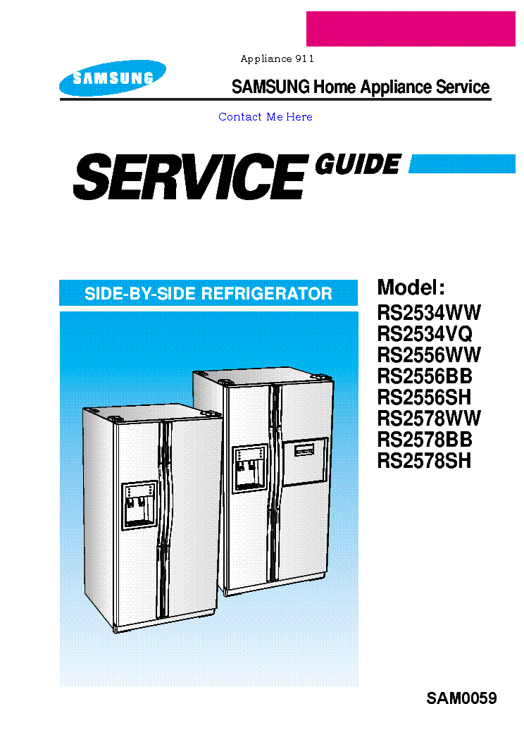 Samsung rs25 service manual
