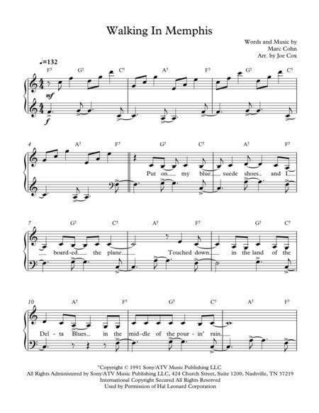 Walking in memphis chords pdf