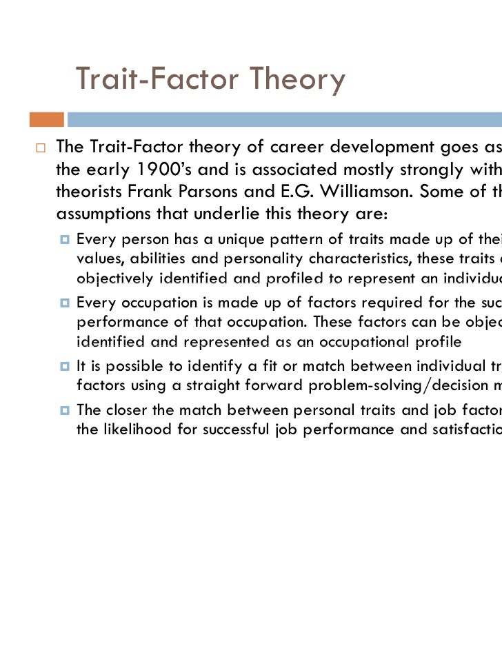 Parsons trait and factor theory pdf