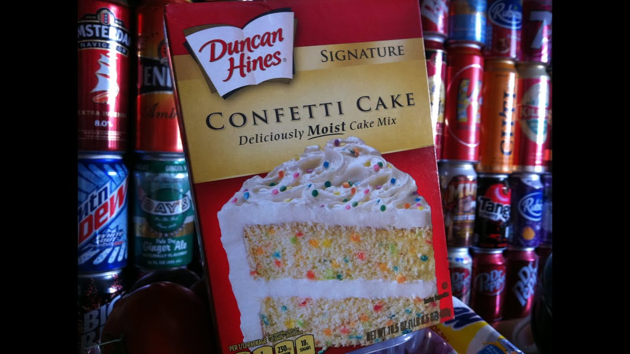 duncan hines confetti cake mix instructions