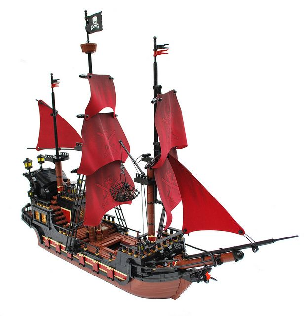 lego moc pirate ship instructions
