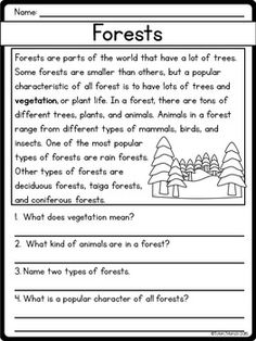 Comprehension for grade 3 pdf