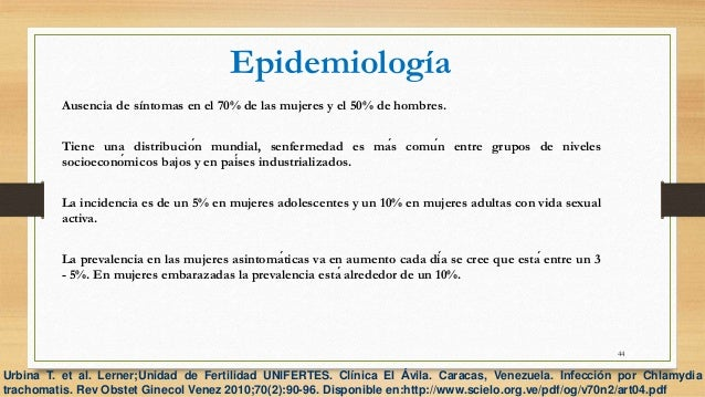 Infeccion de transmision sexual causado por chlamydia trachomatis pdf