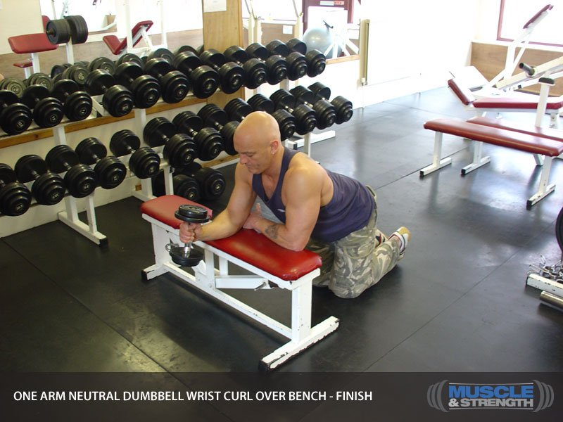 dumbbell wrist curl instructions