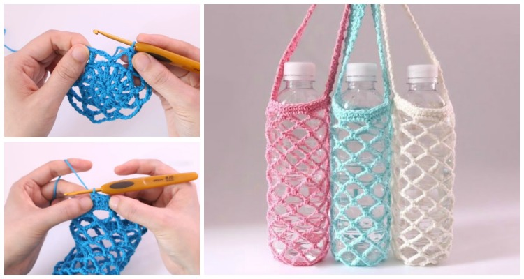 crochet bottle holder instruction to make