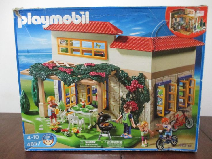playmobil summer house instructions