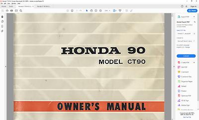 1971 honda ct90 owners manual pdf