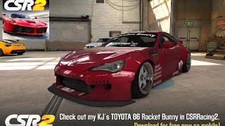 Csr2 toyota 86 rocket bunny how to get