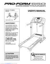 Proform xp 580 crosstrainer treadmill manual