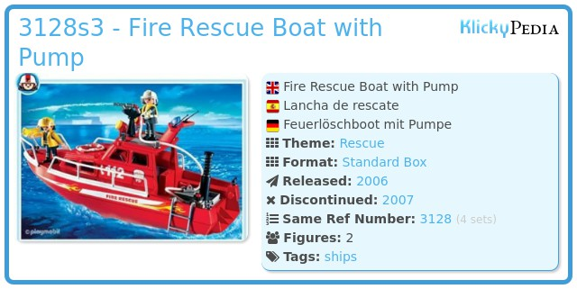 playmobil fire rescue boat instructions