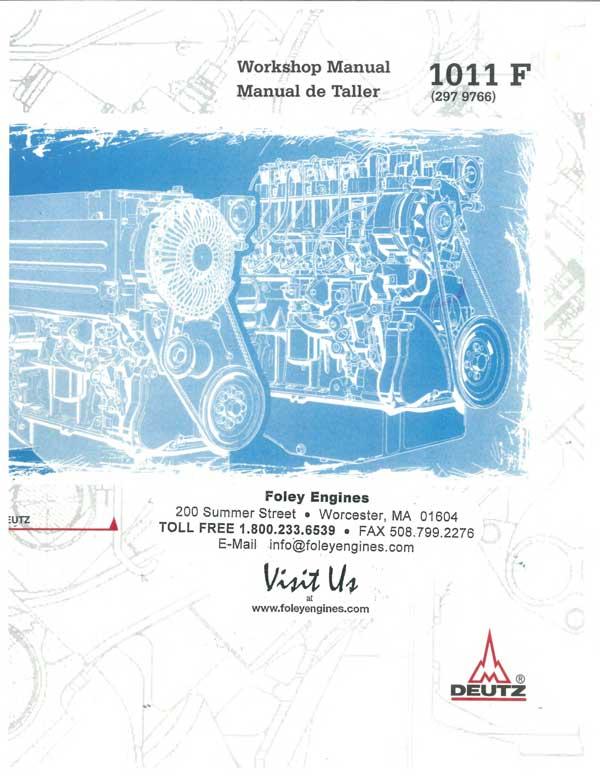 deutz 1011 workshop manual pdf