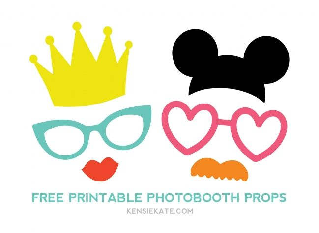 Photo booth props printable pdf