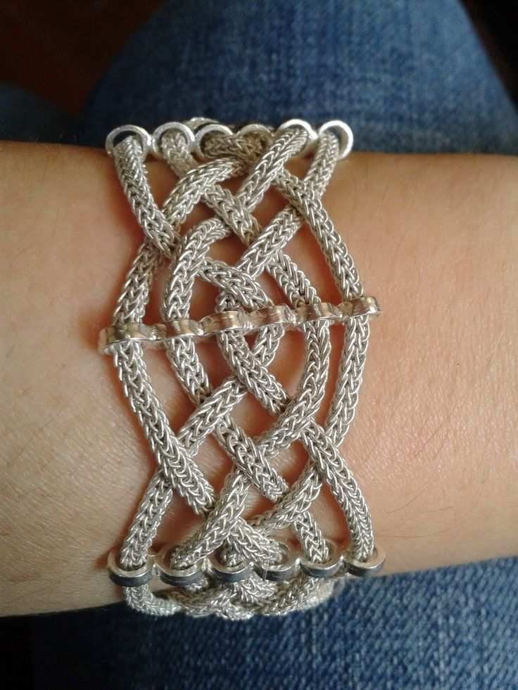 viking knit jewelry instructions