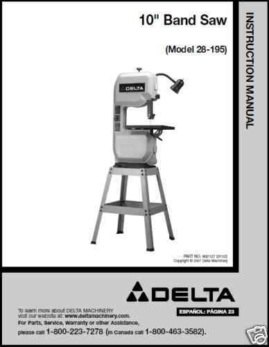 delta shopmaster band saw manual