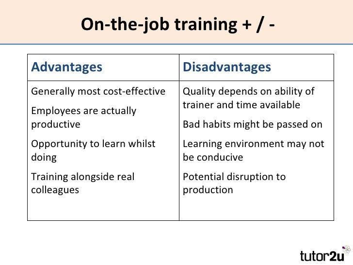 Advantages of training employees pdf