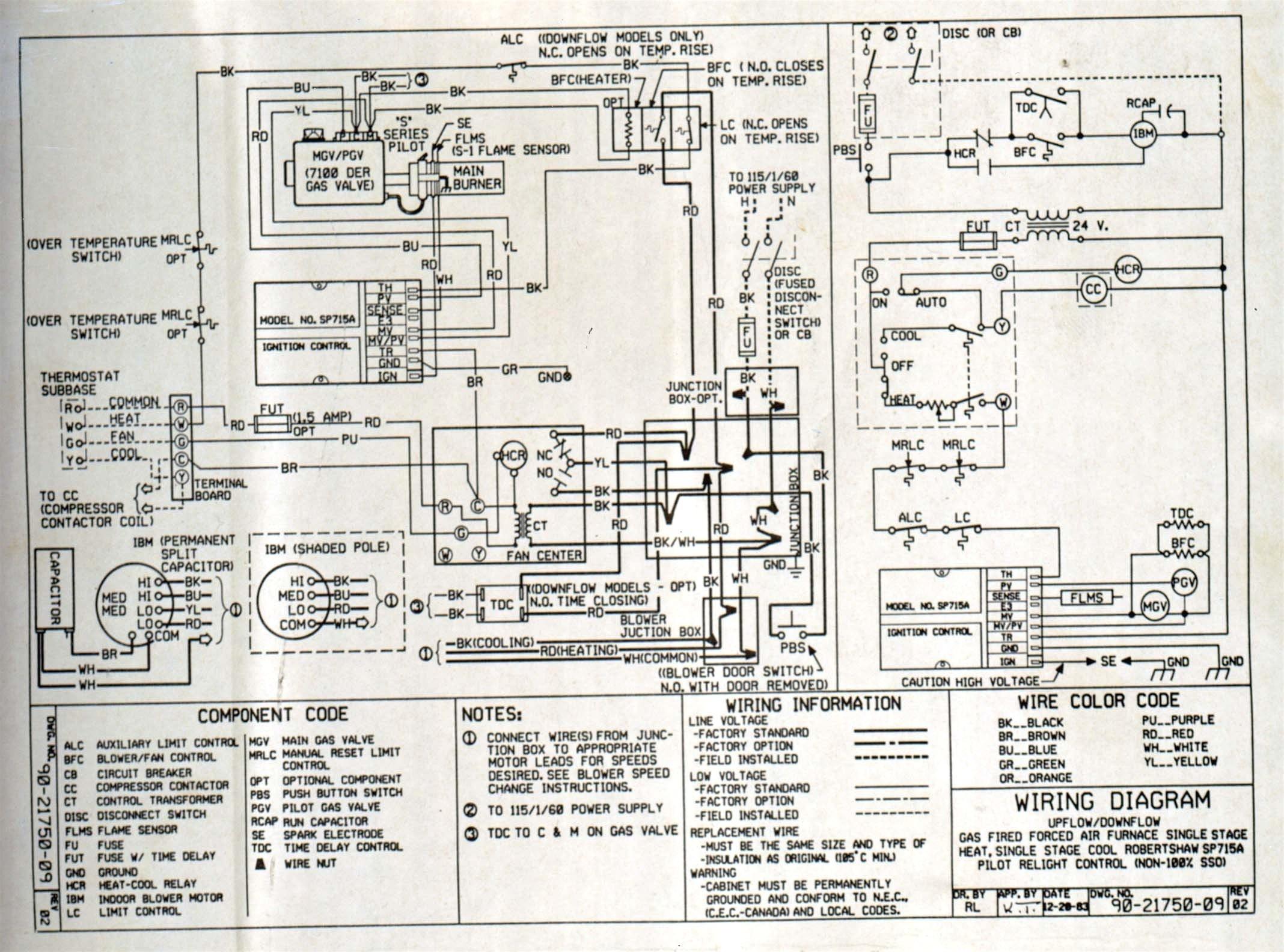Goodman furnace manual wiring diagram