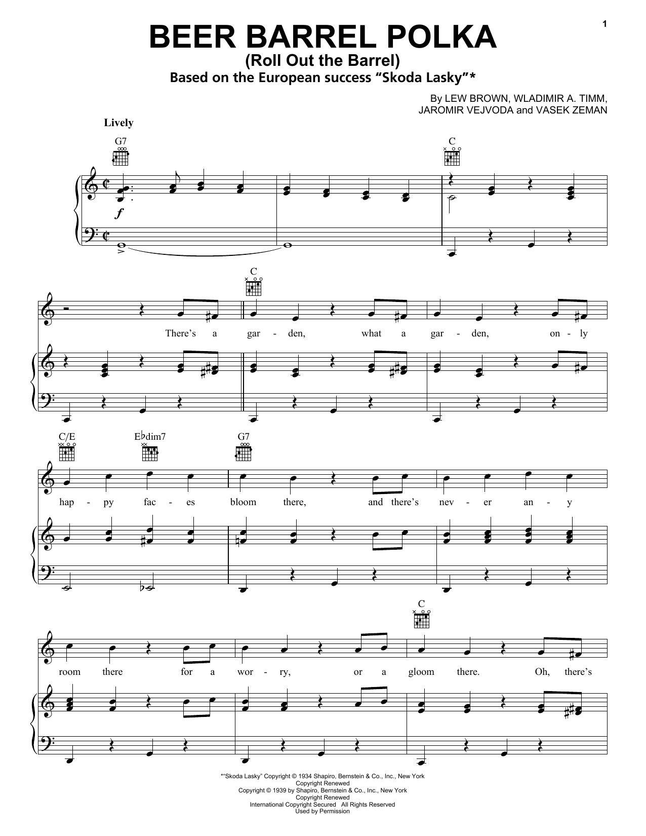 Beer barrel polka accordion sheet music pdf