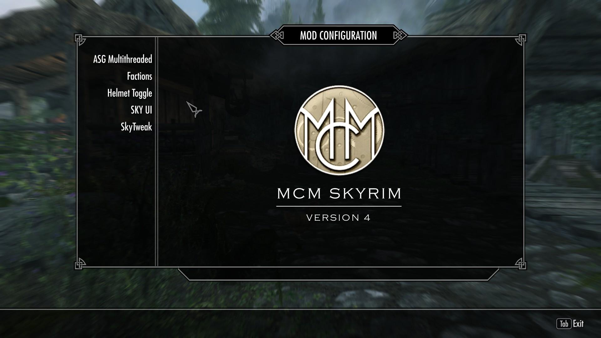Skyrim how to open mcm