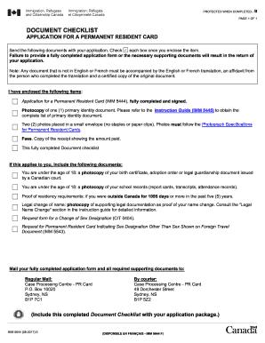 Canadian citizenship document checklist adults