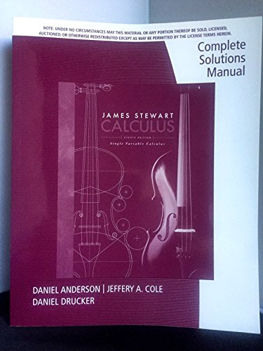 Complete solutions manual for single variable calculus