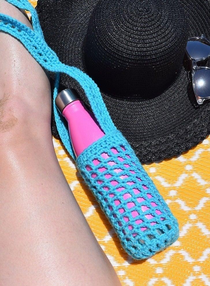 crochet bottle holder instruction to make