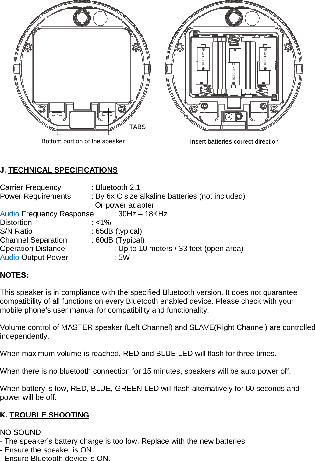Bytech bluetooth speaker instructions