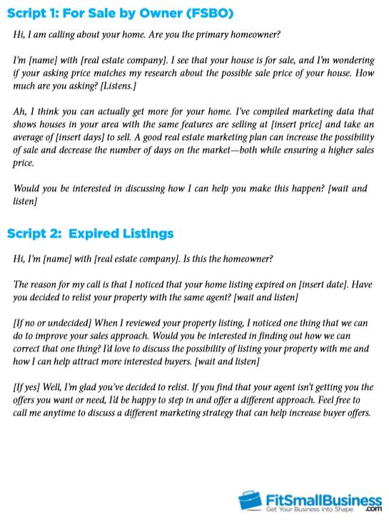 Real estate cold calling scripts pdf