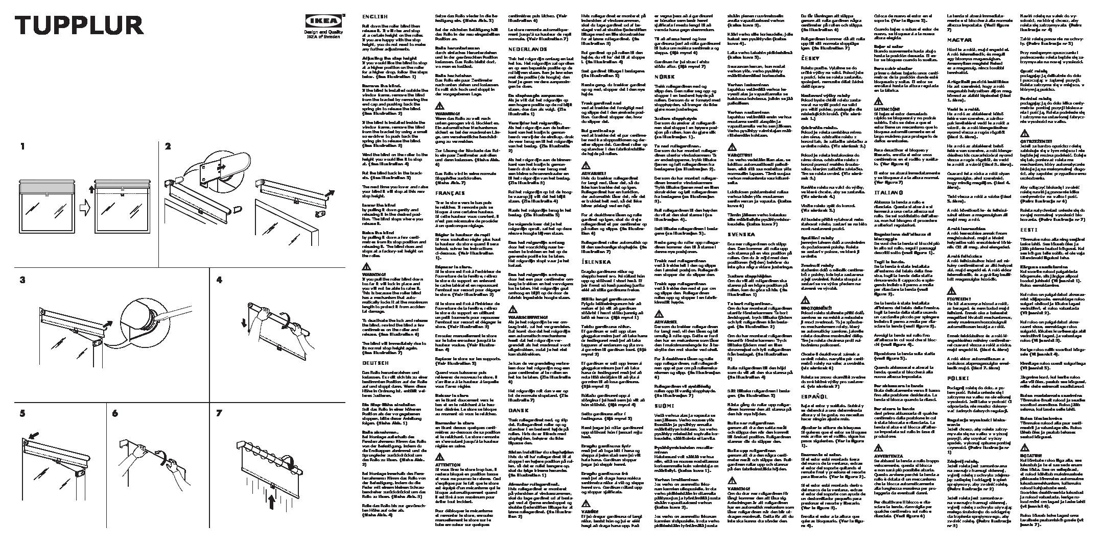 ikea blinds tupplur instructions