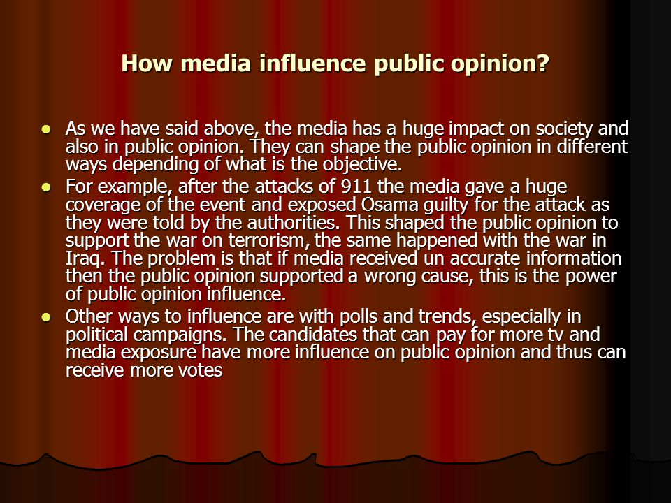 The role and influence of mass media pdf