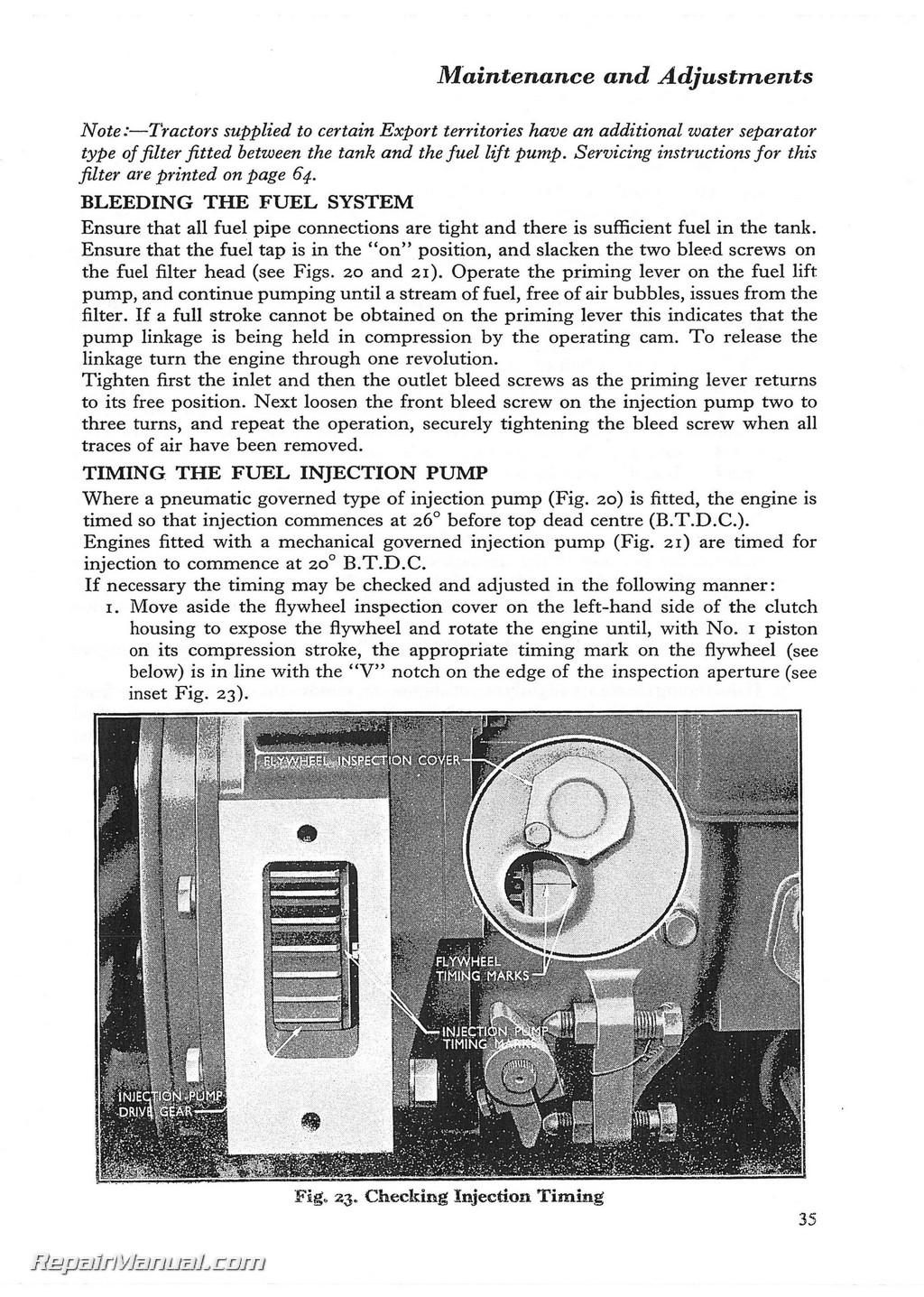 fordson dexta operator manual pdf