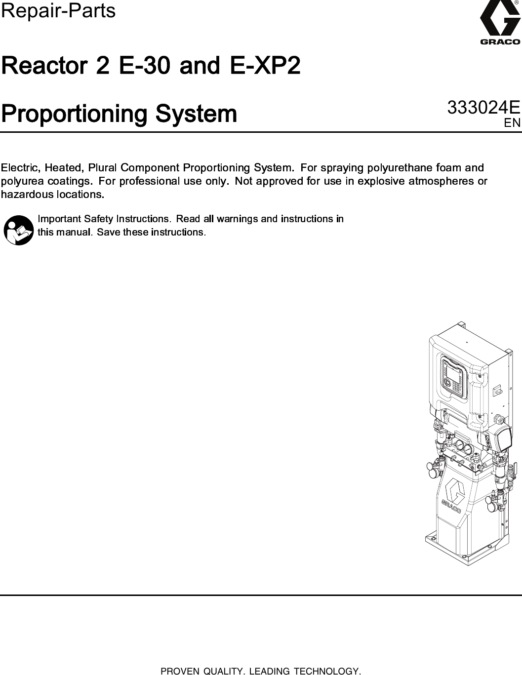 graco reactor e xp2 manual
