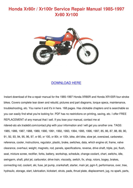 honda brake service manual pdf