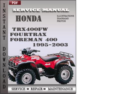 Honda foreman 400 service manual pdf