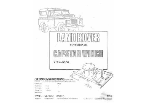 land rover capstan winch manual