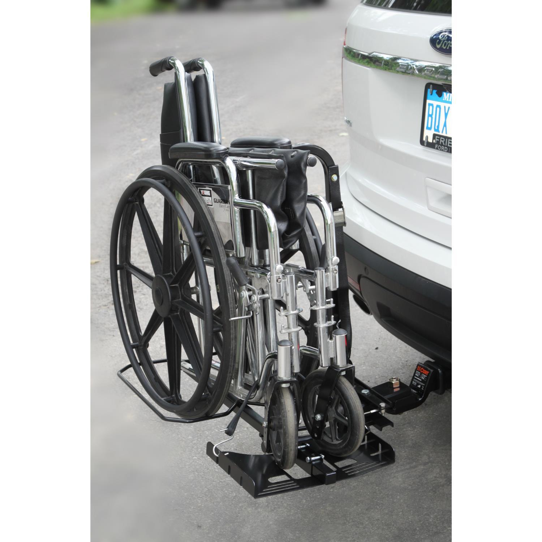 Manual wheelchair lift for car