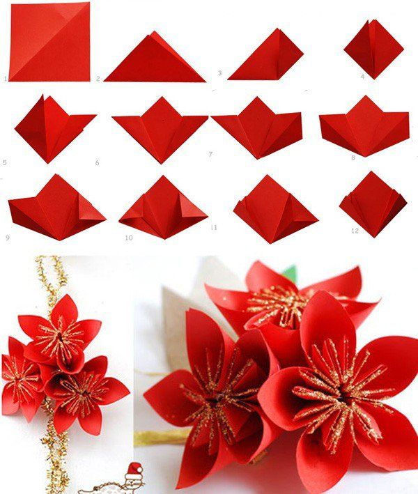 Origami flowers printable instructions