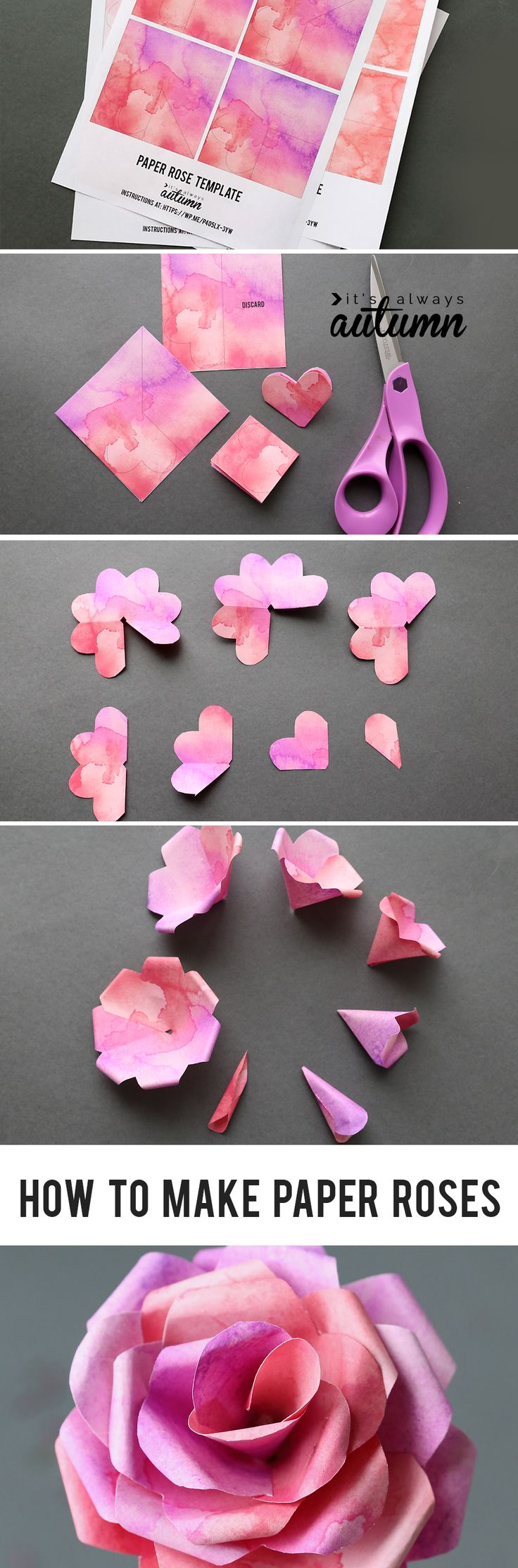 paper rose easy instructions