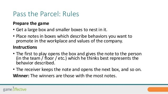 pass the parcel instructions