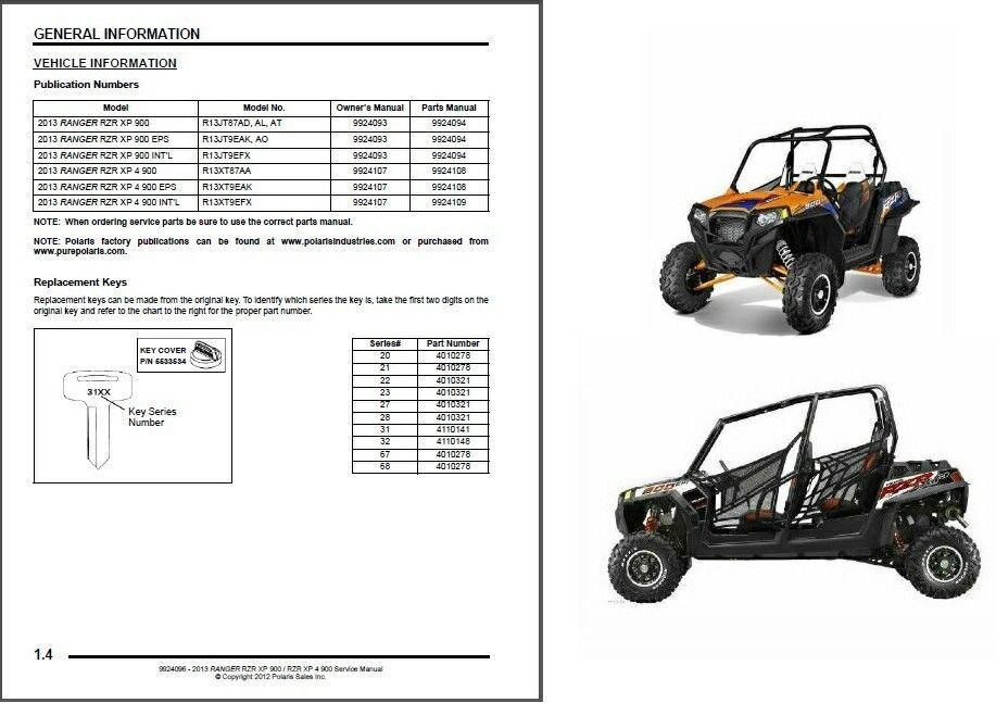 polaris ranger 900 xp service manual