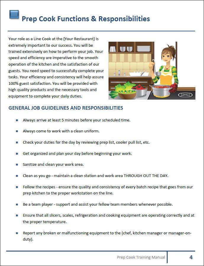 restaurant server training manual template