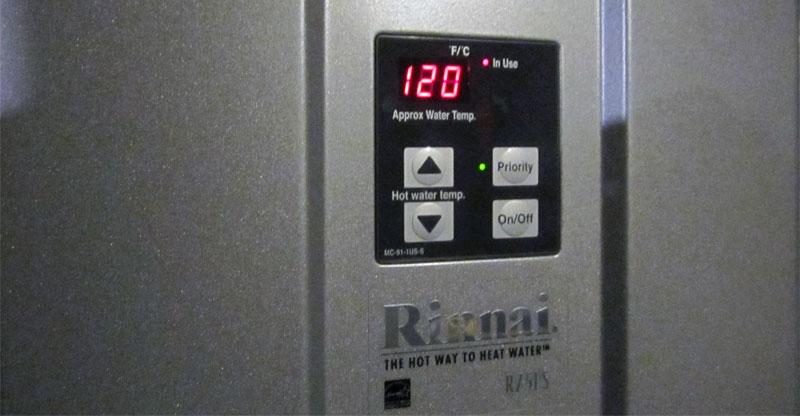 Rinnai hot water controller manual
